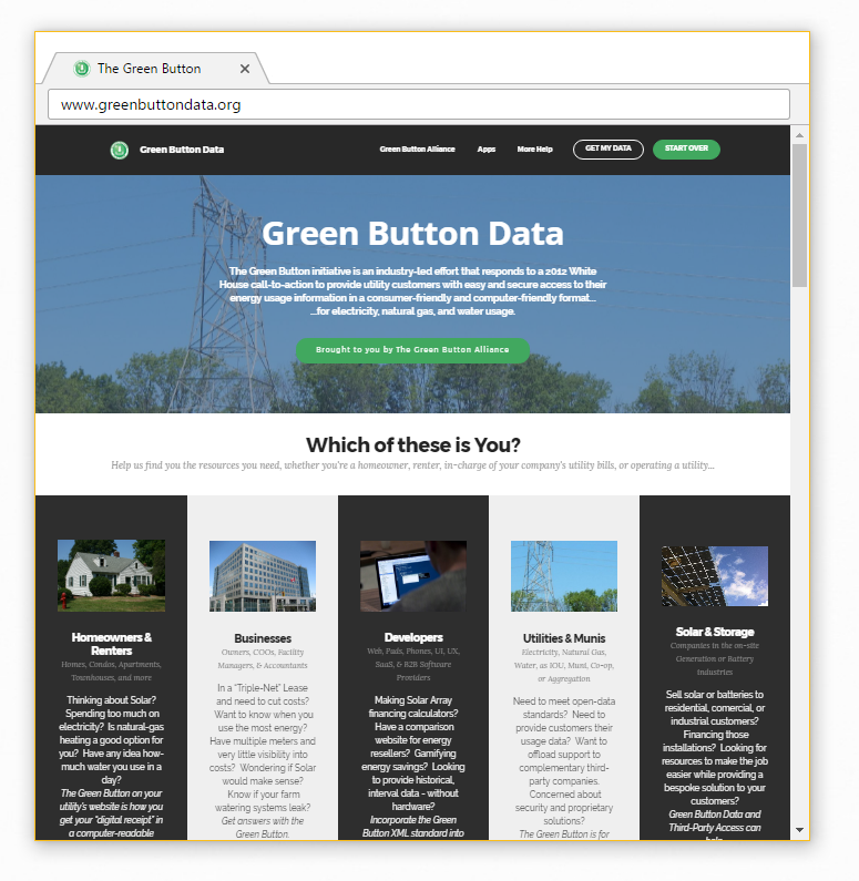 Green Button Data - see how the Green Button can help you.
